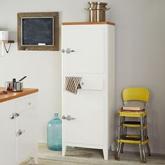 Cabin Kitchen Tower - White #westelm. If I can find similar hardware, I can hack this with the cabinet already in my kitchen.