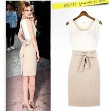 Women Summer Bandage Bodycon Sleeveless Business Party Evening Pencil Dress
