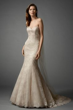 "the designer calls this colour ""oatmeal""! - Zarrin gown"