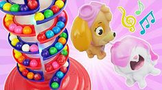 Candy Preschool Toys Teach Colors and Counting for kids with Paw Patrol Gumball Slime, PJ Masks - YouTube