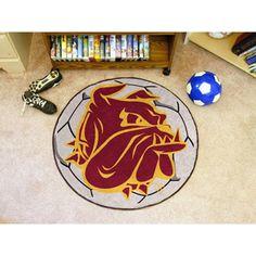 Minnesota Duluth Bulldogs NCAA Soccer Ball Round Floor Mat (29)