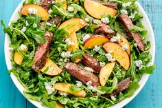Balsamic Grilled Steak Salad with PeachesDelish