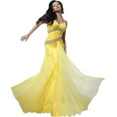 f0daf5c596 Pre-owned Tony Bowls Yellow New Prom Tbe21142 Size 4 Dress ( 251) ❤