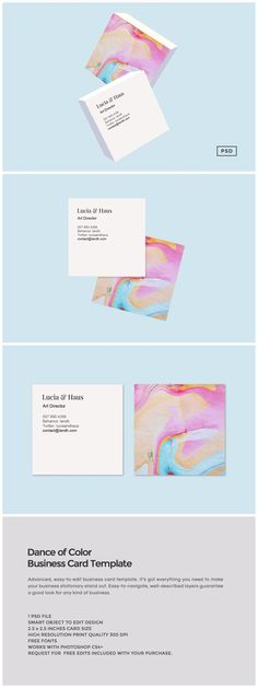 This gorgeous business card template is perfect for anyone who wants to make a style statement and stand out.