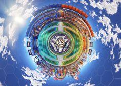 Utopia Coliseum from Rocket League fisheye. [x-post from /r/RocketLeague]