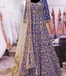 Shop for Designer Lehenga online in India at best prices. Collection of Ghagra, Bridal Lehenga Choli at Voonik. ✓Cash on Delivery ✓Easy Returns ✓Latest Designs Indian Bridal Wear, Pakistani Bridal, Bridal Lehenga, Pakistani Dresses, Indian Dresses, Indian Outfits, Indian Wear, Blue Bridal, Indian Anarkali