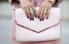 Beautiful pink clutch