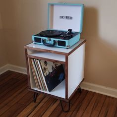 Record Player Stand, Record Players, Crosley Record Player, Retro Record Player, Vinyl Record Storage, Lp Storage, Record Shelf, Storage Room, Record Table