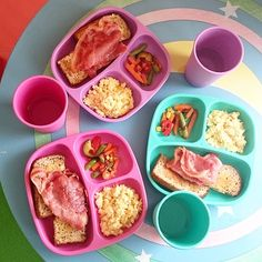 Bacon and eggs on toast with a side of veggies. Toddler Recipes, Healthy Toddler Meals, Toddler Lunches, Baby Food Recipes, Snack Recipes, Toddler Nutrition, Space Food, Creative Snacks, Kid Meals