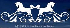 """Amazon.com: Leaping Horse Flourish for Rear Window - Truck Car Decal Sticker - 6"""" tall x 20"""" wide: Automotive"""