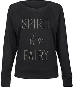 Black 'Spirit of a Fairy' Slouchy Pullover