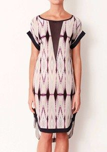 Kasbah Plunging V Silk Dress