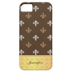 Classic Vintage Texture with Gold Pattern   iPhone 5 Case