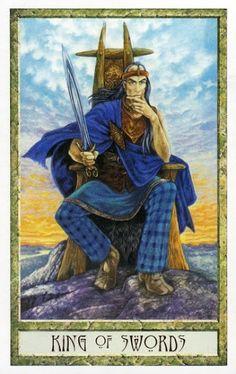Thông tin Lá King of Swords - Druidcraft Tarot bài tarot