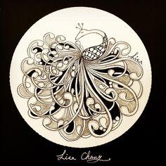 My favorite tangle pattern:Mooka #tree #Zentangle #Mandala#Lisa#Taipei #Taiwan#Zentangle#CZT#ZIA#doodle#painting#drawing#feather#peacock#animal#tree#rabbit#flower#artwork#zentangleart#dreamcatcher#gallery#Peacock#flowers