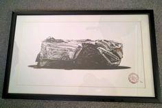James,Jimmie Cauty Bad Car, Bad Art! Ltd edition print framed 9/100 64cm x 40cm