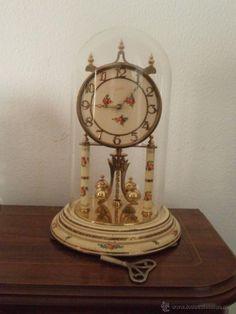 Espectacular reloj de sobremesa con escultura en bronce - Relojes antiguos de mesa ...