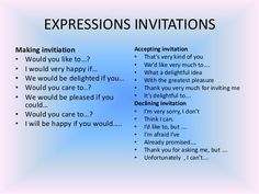 expressions to invite someone - Buscar con Google