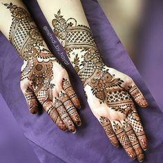 "Complete hands of Asma's bridal henna!  Beware of jealousy, for verily it destroys good deeds the way fire destroys wood."" (Abu Dawood)  For Bookings Email : Nashwahhayat@gmail.com  Have blessed Friday everyone ❤ #mehndi_by_hayat #alhumdulillah"