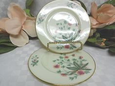 Lenox,white China Dinnerware Country Garden #W302 With Pink/Yellow Flowers