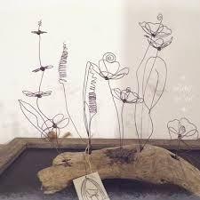Výsledek obrázku pro fil de fer et bois flottés