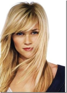 Reese Witherspoon Bangs Someday my hair will look this good ;) by HOLLACHE - Lange Haare Ideen Hair Clinic, Great Hair, Hair Today, Hair Dos, Pretty Hairstyles, Long Hairstyles With Bangs, Fringe Hairstyles, Elegant Hairstyles, Hair Lengths