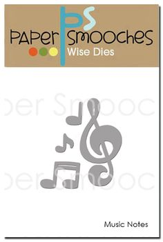Music Notes Dies by Paper Smooches