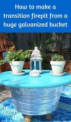 How To Make A Transition Firepit From A Huge Galvanized Bucket http://www.hometalk.com/l/JdT