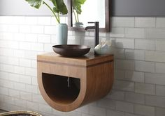 """Native Trails vanity and """"antique"""" copper sink"""