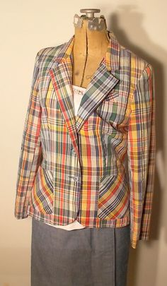 Hey, I found this really awesome Etsy listing at http://www.etsy.com/listing/156822944/vintage-plaid-blazer-and-skirt-college