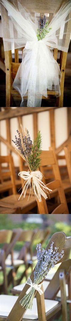 lavender themed wedding chair decoration ideas