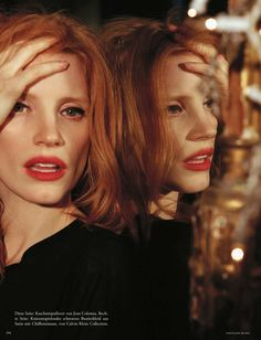 all that jazz: jessica chastain aby bruce weber for vogue germany january 2013