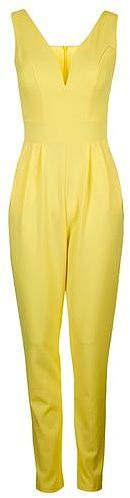 Womens lemon structured plunge jumpsuit by wal g - yellow, yellow from Topshop - £32 at ClothingByColour.com
