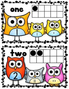 """(sample page) """"Owl"""" About Numbers {Math Posters 1-10} Kindergarten Common Core. $"""