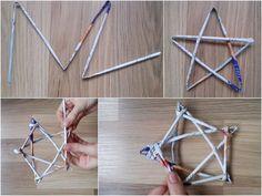 gwiazda z papierowej wikliny