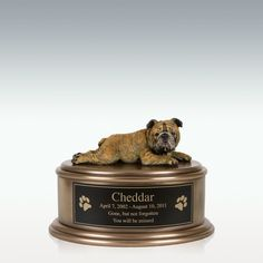 English Bulldog Figurine Cremation Urn - Engravable Only God Knows Why, Pet Cremation, Memorial Stones, Pet Memorials, Little Dogs, Custom Engraving, Dog Bowls, Your Pet, It Cast