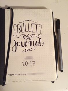 My opening page of my new 2017 bullet journal.  Bullet journal, inspiration, first page, ideas.