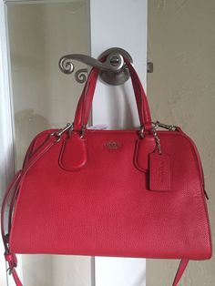 Coach 35650 Nolita Satchel True Red Pebble Leather   eBay