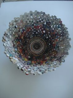 my pinterest inspired bowl. upcycled magazine turned high-art :)