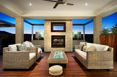 Layout of lounges with outdoor fireplace Outdoor Areas, Outdoor Rooms, Outdoor Dining, Outdoor Furniture Sets, Outdoor Decor, Outdoor Fire, Barbacoa, Dream Home Design, House Design
