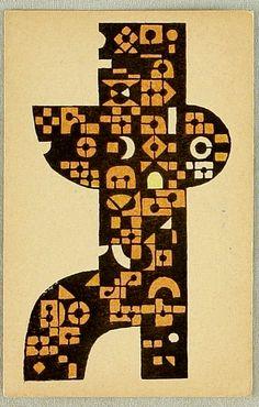 New Year's Greeting Card (1962) Tōshi Yoshida