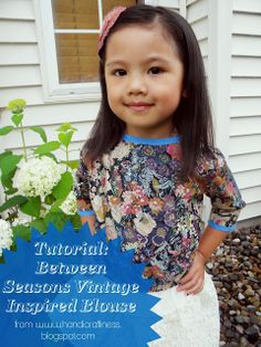 Handicraftiness: Tutorial for the Between Seasons Vintage-Inspired Blouse
