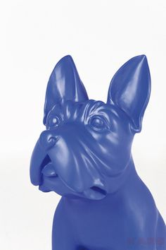 Deco Figurine Bulldog Blue by #KAREDesign