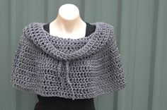 Ravelry: Cowl Neck Poncho Crochet Tutorial pattern by bobwilson123  -- I'm in midst of making one of these... my bottom is a little different because I used half DC instead of just DC. :)