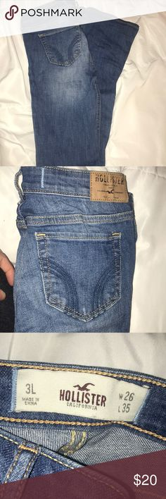 Hollister flare jeans Gently warn. No rips or holes. Size 3L Hollister Jeans Flare & Wide Leg