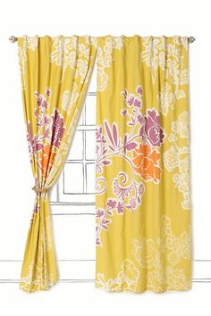 Spiral Vine Curtain #anthropologie