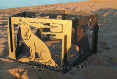 Decorative Portable Metal Fire Pit  Wolf & by CopperTreeDesign, $200.00