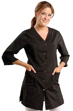 JMT Beauty 34 Sleeve Black Salon Smock M 8 -- Find out more about the great product at the image link.