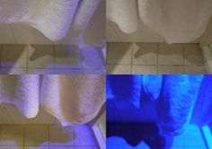 Use ideas about colour and light to explain the shadows in a hotel bathroom. Via @MaryUYSEG