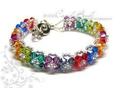 Pulsera arco iris pulseras de cristal Pulsera de Swarovski